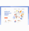 ui ux development header template vector image