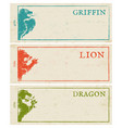 vintage paper banners for games vector image vector image