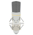 Vintage white microphone vector image vector image