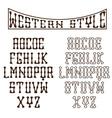 western alphabet vector image vector image