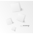 White cubes isolated on white background vector image vector image