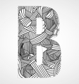 Letter B from doodle alphabet vector image
