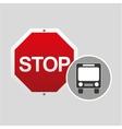 public transport stop road sign design vector image