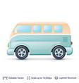 classic volkswagen bus vector image