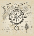 sketch of the compass vector image