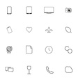 Minimalistic icons for websites and applications vector image