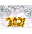 2021 new year poster winter background with vector image vector image