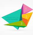 3d triangle shapes with numbers vector image vector image