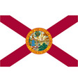 accurate correct florida fl state flag vector image