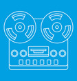 analog stereo open reel tape deck recorder icon vector image vector image