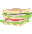 appetizing sandwich vector image vector image
