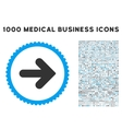 Arrow Right Icon with 1000 Medical Business vector image vector image