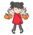 art of cute character vector image