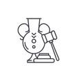 auction line icon concept auction linear vector image