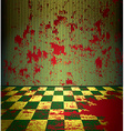 Bloody room vector image vector image