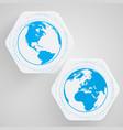blue earth symbol vector image