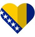 Bosnia and Herzegovina flat heart flag vector image vector image