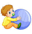 Boy and ball vector image