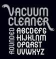capital modern alphabet letters set trendy font vector image vector image