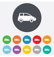 Car sign icon Hatchback symbol vector image