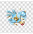 christmas festive ornament vector image