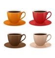 cup of coffee set vector image