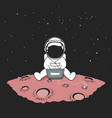cute an astronaut sits in internet vector image vector image