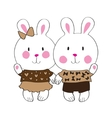 Cute bunny with love letter vector image vector image