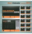 Desk calendar 2016 design template for company vector image vector image