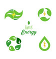 eco energy symbol template logo set green power vector image