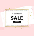 elegant sale and discount promo background vector image