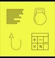 essential linear icon set vector image