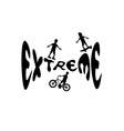 extreme sport cartoon silhouettes vector image