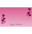 flat of Valentine backgrounds vector image