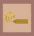 flat shading style icon kids felt-tip marker vector image vector image