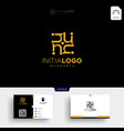 gold luxury and premium initial n logo template vector image vector image