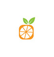 half square orange for logo design vector image