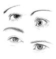 Hand drawn eyes vector image vector image