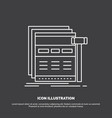 internet page web webpage wireframe icon line vector image