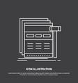 Internet page web webpage wireframe icon line