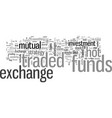 investment strategy why exchange traded funds are vector image vector image