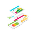 isometric 3d user interface design vector image vector image