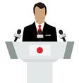 Japan speaker concept vector image
