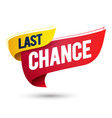 last chance flag icon modern web label element vector image vector image
