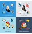 Law Isometric Set vector image vector image