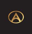 letter a logo design concept template vector image vector image