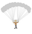 man flying on a hang glider vector image
