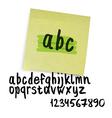 marker alphabet lowercase vector image