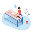 massage therapy isometric vector image vector image