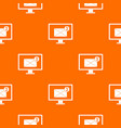 monitor screen with email sign pattern seamless vector image vector image